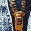 Jeans zipper - Foto Stock
