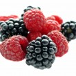 Stock Photo: Blackberry and raspberry