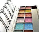 Colorful eyeshadows — Stock Photo