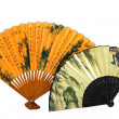 Two Chinese fan — Stock Photo