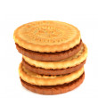 Shortbread two colors on each other — Stock Photo