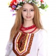 Ukrainian girl in a dress — Stock Photo
