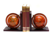 Two globes on a stand — Stock Photo
