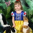 Stock Photo: Girl in dress of Snow White