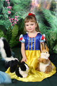 Girl in a dress of Snow White — Stock Photo