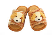 Children's slippers with dogs — Foto de Stock