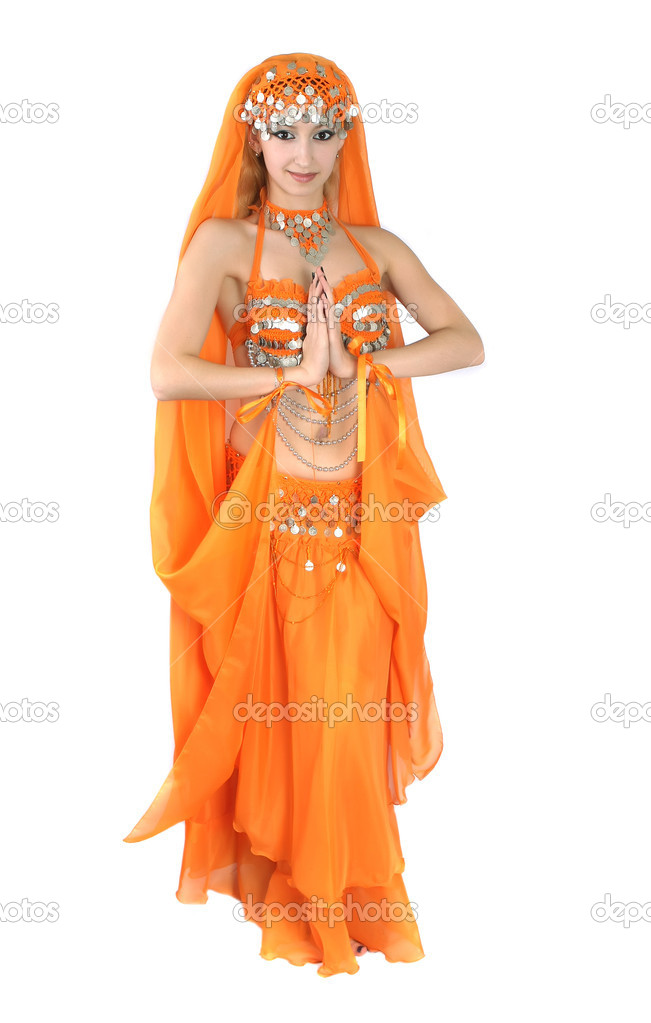 Girl in eastern dress — Stock Photo #2065885