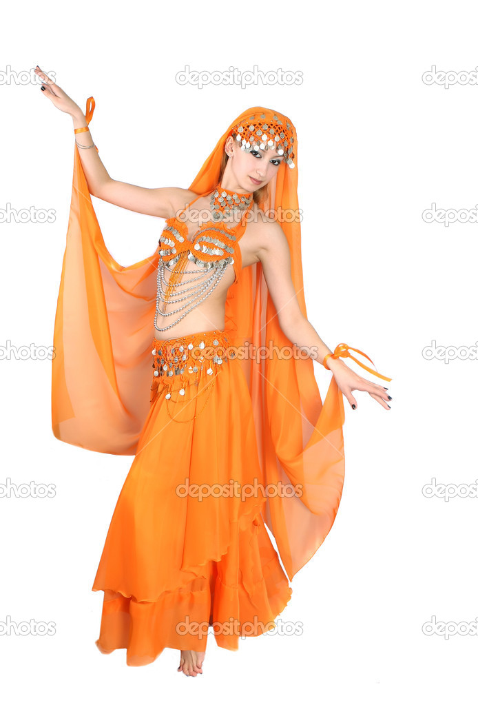 Girl in eastern dress — Stock Photo #2065926