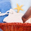 Accessories for bath in basket - 