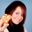 Heart cookie for valentine — Stock Photo