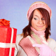 Girl with present — Stock Photo #1855246