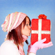 Kissing the present — Stock Photo #1855445