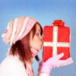 Royalty-Free Stock Photo: Kissing the present