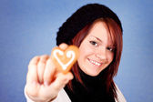 Giving sweet heart — Stock Photo
