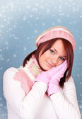 Lovely winter girl — Stock Photo