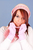 Cute girl in winter clothing — Stock Photo