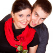 Stock Photo: Couple and a rose