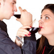 Couple drinking wine — Stock Photo #2027101