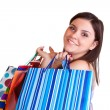 Royalty-Free Stock Photo: Brunette with many shopping bags