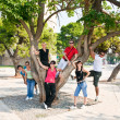 Group of on vacation in greece — Stockfoto
