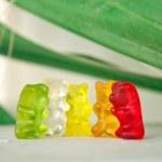 Colorful gummy bears having fun — Stock Photo