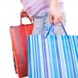 Royalty-Free Stock Photo: Close-up of woman with bags