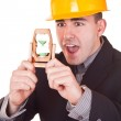 Businessman out of time — Stock Photo