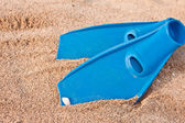 Blue pair of flippers — Stock Photo