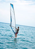Windsurfer on the sea — Stock Photo