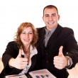 Royalty-Free Stock Photo: Business holding thumbs up