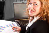 Close-up of businesswoman in office — Stock Photo