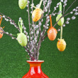 Colorful easter tree — Stock Photo
