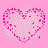 Love Heart card. Vector illustrations — Stock Vector