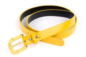 Yellow woman belt isolated on white — Stock Photo