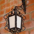 Street lanterns of illumination on wall - Foto Stock