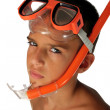 Royalty-Free Stock Photo: Snorkeling boy