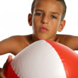 Boy with ball — Stock Photo
