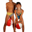 Children in swimsuit — Stock Photo