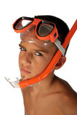 Snorkeling boy — Stock Photo