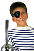 Pirate boy at party — Stock Photo