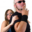 Stock Photo: Strong couple