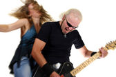 Rock guitarist — Stock Photo
