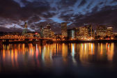 Portland Downtown Skyline at Night — Stock Photo