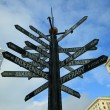 Signs Pointing in all Directions — Stock Photo