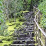 Stone Stairs at Japanese Garden — Stock Photo