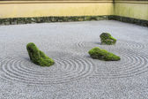 Japanese Zen Sand Garden — Stock Photo