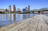 Portland Skyline from the Docks — Stock Photo