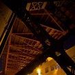 Under the Bridge in Industrial Area - Stock Photo
