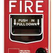 Fire Alarm Control Switch — 图库照片