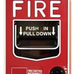 alarm pożarowy przełącznik — Zdjęcie stockowe